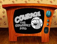 Courage the cowardly dog: http://bit.ly/courageonhummingjays
