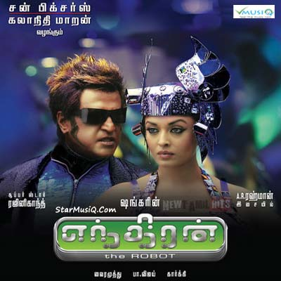 Enthiran | Audio: http://www.saavn.com/s/album/tamil/Enthiran-2010/goQAbgL03lI_ | Video: https://www.youtube.com/playlist?list=PLjity7Lwv-zrRmsVD8DYsfz2dbbrjcUER