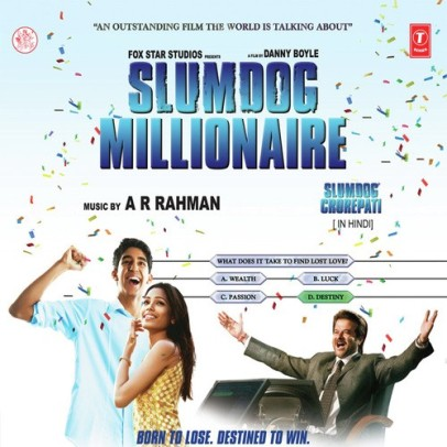 Slumdog Millionaire | Audio: http://www.saavn.com/s/album/hindi/Slumdog-Millionaire-2009/VUYuvCcn8ss_ | Video: https://www.youtube.com/playlist?list=PL0CC1C07BCB79BBE6